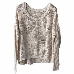 Cream Oversized Knit Sweater M-L